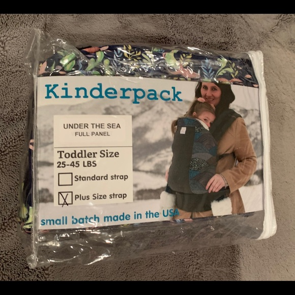 """Kinderpack Toddler XL straps in """"Under the Sea""""."""